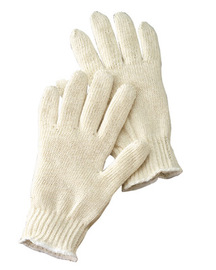 Radnor® Natural Ladies Lightweight Cotton And Polyester Seamless Knit General Purpose Gloves With Knit Wrist