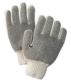 Radnor® Black/Natural Ladies Cotton And Polyester Seamless Knit General Purpose Gloves With Knit Wrist
