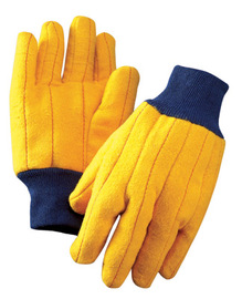 RADNOR® Yellow 18 oz Standard Clute Cut General Purpose Gloves With Knit Wrist