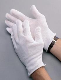 Radnor® Large White CleanTeam® Heavy Weight Cotton Inspection GlovesWith Unhemmed Cuff