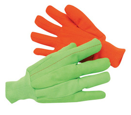 Radnor® Large Hi-Viz Green 18 Ounce Canvas/Cotton/Polyester Hot Mill Gloves With Knit Wrist
