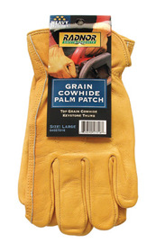 RADNOR® Medium Gold Top Grain Cowhide Unlined Drivers Gloves