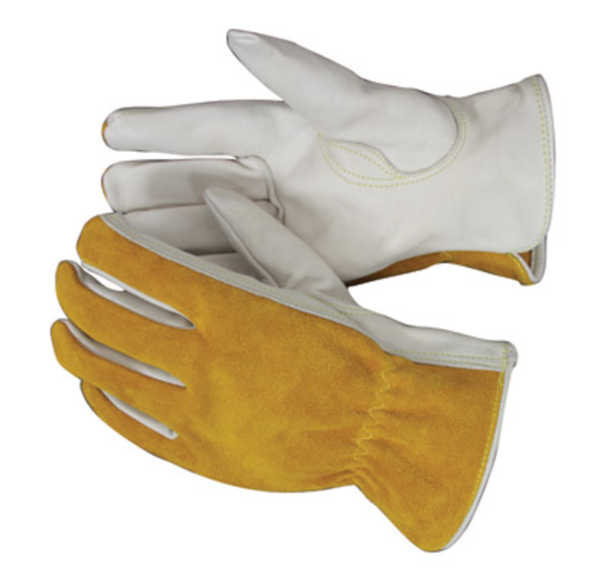 Driving gloves unlined - Radnor Medium Premium Grain Split Back Cowhide Unlined Drivers Gloves With Keystone Thumb And Shirred