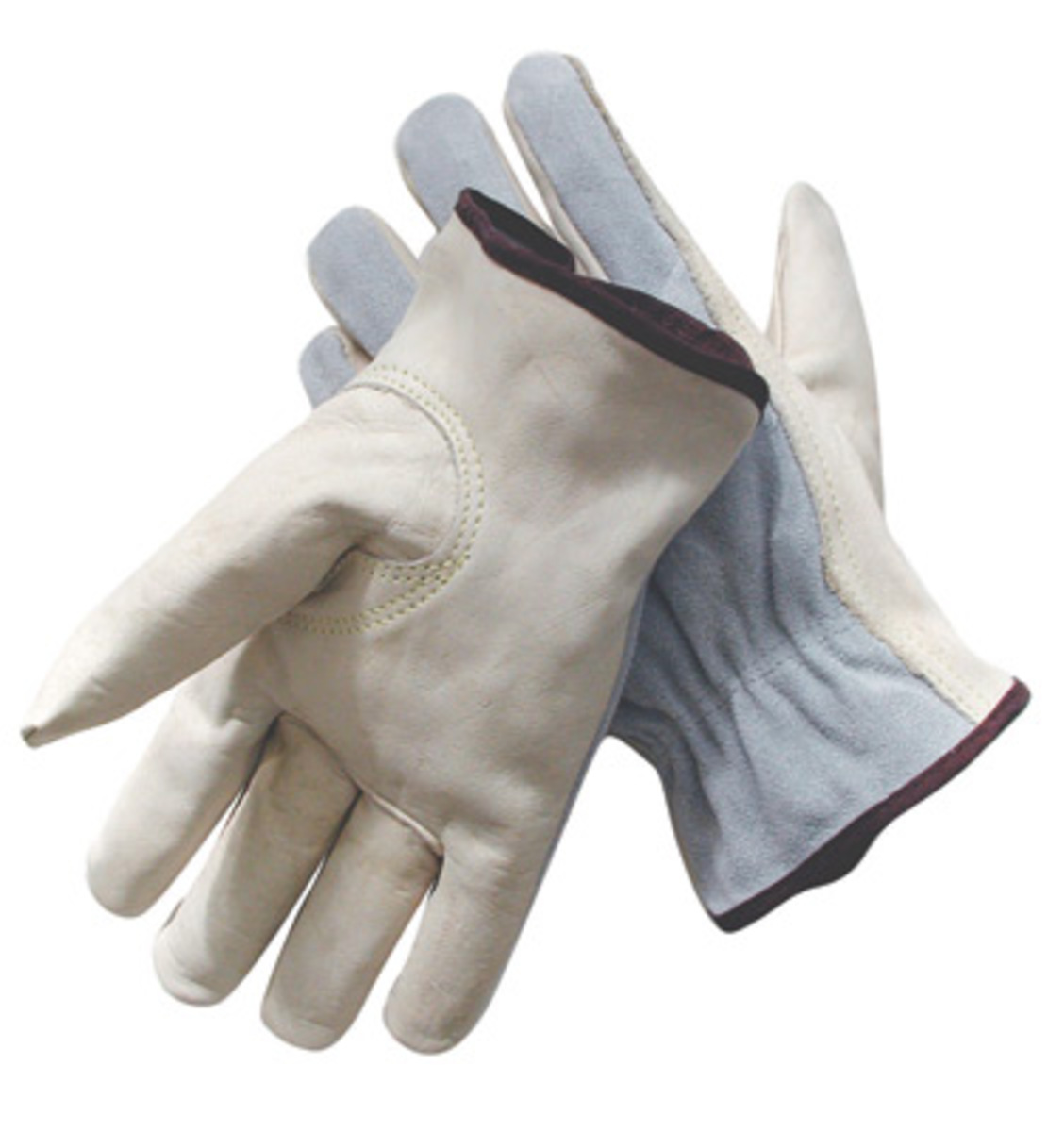 Driving gloves unlined - Radnor Large Grain Palm Split Cowhide Back Leather Unlined Drivers Gloves With Keystone Thumb