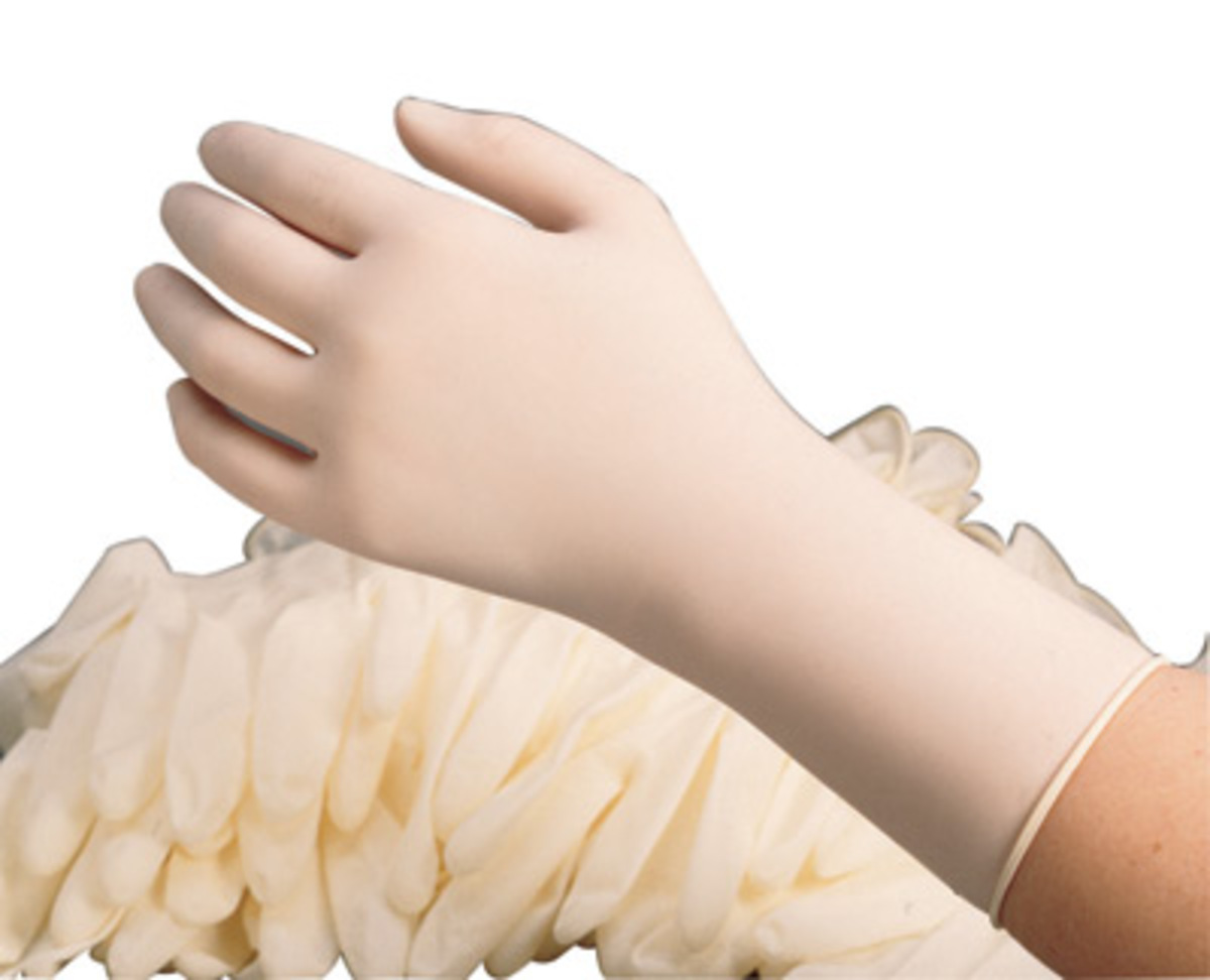 Latex powder free gloves wholesale 14