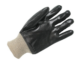 Radnor® Large Black And Tan PVC Chemical Resistant Gloves