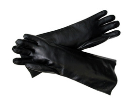 Radnor® Large Black PVC Chemical Resistant Gloves