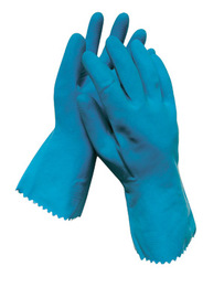 Radnor® Large Blue 18 mil Latex Chemical Resistant Gloves