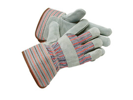 RADNOR® Large Gray Select Shoulder Grade Leather Fleece Lined Cold Weather Gloves