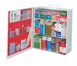 Radnor® Three-Shelf 25 Person Durable Metal Industrial First Aid Cabinet