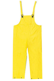 MCR Safety® Yellow Wizard .28 mm Nylon And PVC Bib Pants With Take Up Snaps On Ankles
