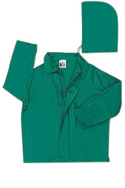MCR Safety® Green Dominator .42 mm Polyester And PVC 2-Piece Jacket With Detachable Hood