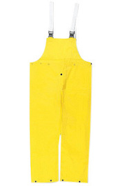 MCR Safety® Yellow Navigator .22 mm Nylon And Polyurethane Bib Pants With Take Up Snaps On Ankles
