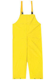 MCR Safety® Yellow Concord .35 mm Neoprene And Nylon Bib Pants With Take Up Snaps On Ankles