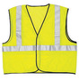 River City Garments® 2X Hi-Viz Lime Solid Polyester Class 2 Vest With Hook And Loop Closure And 3M™ Scotchlite™ 2