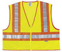 River City Garments® Medium - X-Large Hi-Viz Lime Polyester Mesh Class 2 Vest With Adjustable Front Hook And Loop Closure And 3M™ Scotchlite™ 3