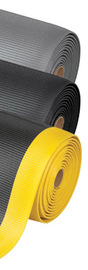 Superior Manufacturing 3' X 60' Black PVC Foam Notrax® Anti-Fatigue Floor Mat