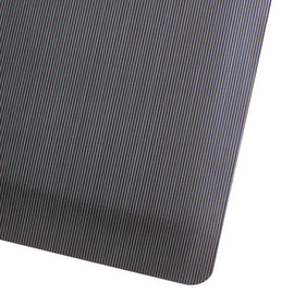 Superior Manufacturing 3' X 5' Black Vinyl Notrax® Ribbed Anti-Fatigue Floor Mat With PVC Foam Back