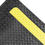 Superior Manufacturing 2' X 3' Black With Yellow Edge Rubber Notrax® Anti-Fatigue Floor Mat With PVC Foam Back