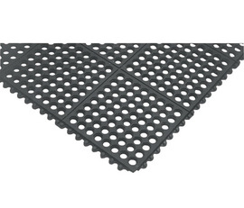 Superior Manufacturing 3' X 5' Black Nitrile Rubber Notrax® Anti-Fatigue Floor Mat