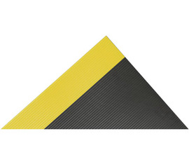 Superior Manufacturing 3' X 75' Black With Yellow Edge PVC Notrax® Non-Conductive Switchboard Anti-Fatigue Floor Mat