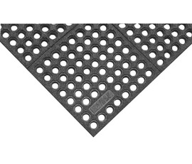 Superior Manufacturing 3' X 5' Black Silicon Carbide Grit Nitrile Rubber Notrax® Anti-Fatigue Floor Mat