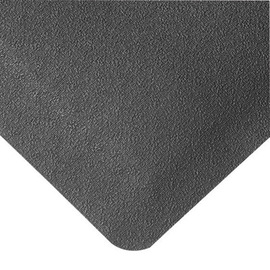 Superior Manufacturing 3' X 12' Black Rubber Notrax® Anti-Fatigue Floor Mat With PVC Foam Back