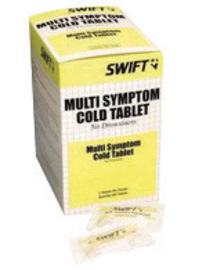 North® By Honeywell Swift First Aid Multi-Symptom Cold Relief Tablet (2 Per Pack, 100 Packs Per Box)