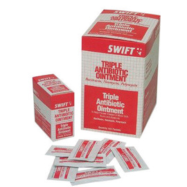 Swift First Aid 1 Gram Foil Pack Triple Biotic Ointment (20 Per Box)