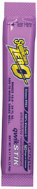 Sqwincher® .11 Ounce Grape Flavor Qwik Stik™ ZERO Powder Concentrate Package Electrolyte Drink (50 Per Pack)