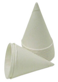Sqwincher® 4.5 Ounce White Paper Cone Cup With Rolled Lip (5000 Cups Per Case)