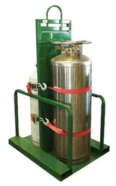 Saf-T-Cart Steel Cylinder Pallet With Firewall And STP-45 Strap