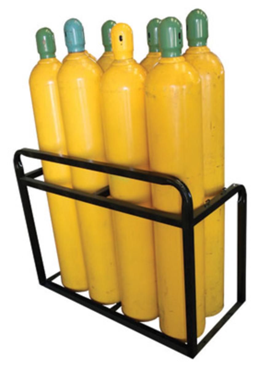 High Pressure Bottle Rack : Airgas stccr saf t cart cylinder stationary cradle rack