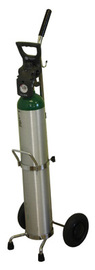 Saf-T-Cart 100 lb Medical Single Cylinder Cart With 6