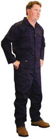 Stanco Safety Products™ Size 5X Navy Blue Indura® Arc Rated Flame Resistant Coveralls With Modaquilt Lining And Front Zipper Closure