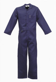 Stanco Safety Products™ Size 5X Tall Navy Blue Indura® Arc Rated Flame Resistant Coveralls With Front Zipper Closure