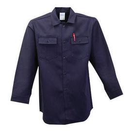 Stanco Safety Products™ 3X Navy Blue Nomex® IIIA Arc Rated Flame Resistant Shirt With Button Closure And 1 (4.8 cal/sq-cm)