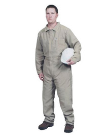 Stanco Safety Products™ 2X Tan Nomex® IIIA Arc Rated Flame Resistant Coveralls With Front Zipper Closure And 1 (4.8 cal/sq-cm)