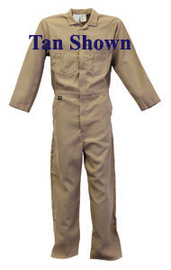 Stanco Safety Products™ 3X Short Navy Blue Nomex® IIIA Arc Rated Flame Resistant Coveralls With Concealed 2-Way Front Zipper Closure And 1 (5.7 cal/sq-cm)