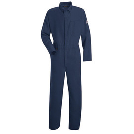 Stanco Safety Products™ 5X Navy Blue Nomex® IIIA Arc Rated Flame Resistant Coveralls With Concealed 2-Way Front Zipper Closure And 1 (5.7 cal/sq-cm)