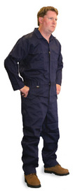Stanco Safety Products™ Tall X-Large Navy Blue Indura® UltraSoft® Arc Rated Flame Resistant Coveralls With Front Zipper Closure