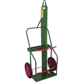 Sumner Manufacturing Company 1 Cylinder Cart With Semi Pneumatic Wheels And Curved Handle