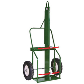 Sumner Manufacturing Company 1 Cylinder Cart With Flat Free Wheels And Curved Handle
