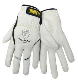 Tillman™ TrueFit™ Medium Top Grain Kevlar® And Goatskin Super Premium Grade TIG Welders' Glove With Elastic Cuff, V Design Thumb And Hook And Loop Closure