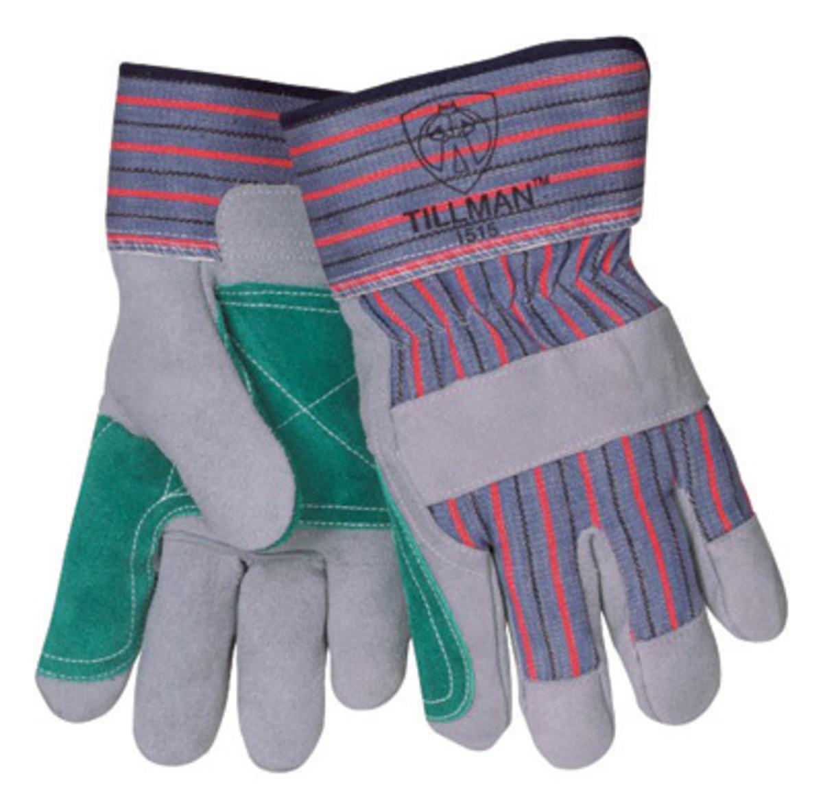 Gauntlet cuff leather work gloves - Tillman Large Standard Grade Shoulder Split Cowhide Leather Palm Glove With 2 1 2