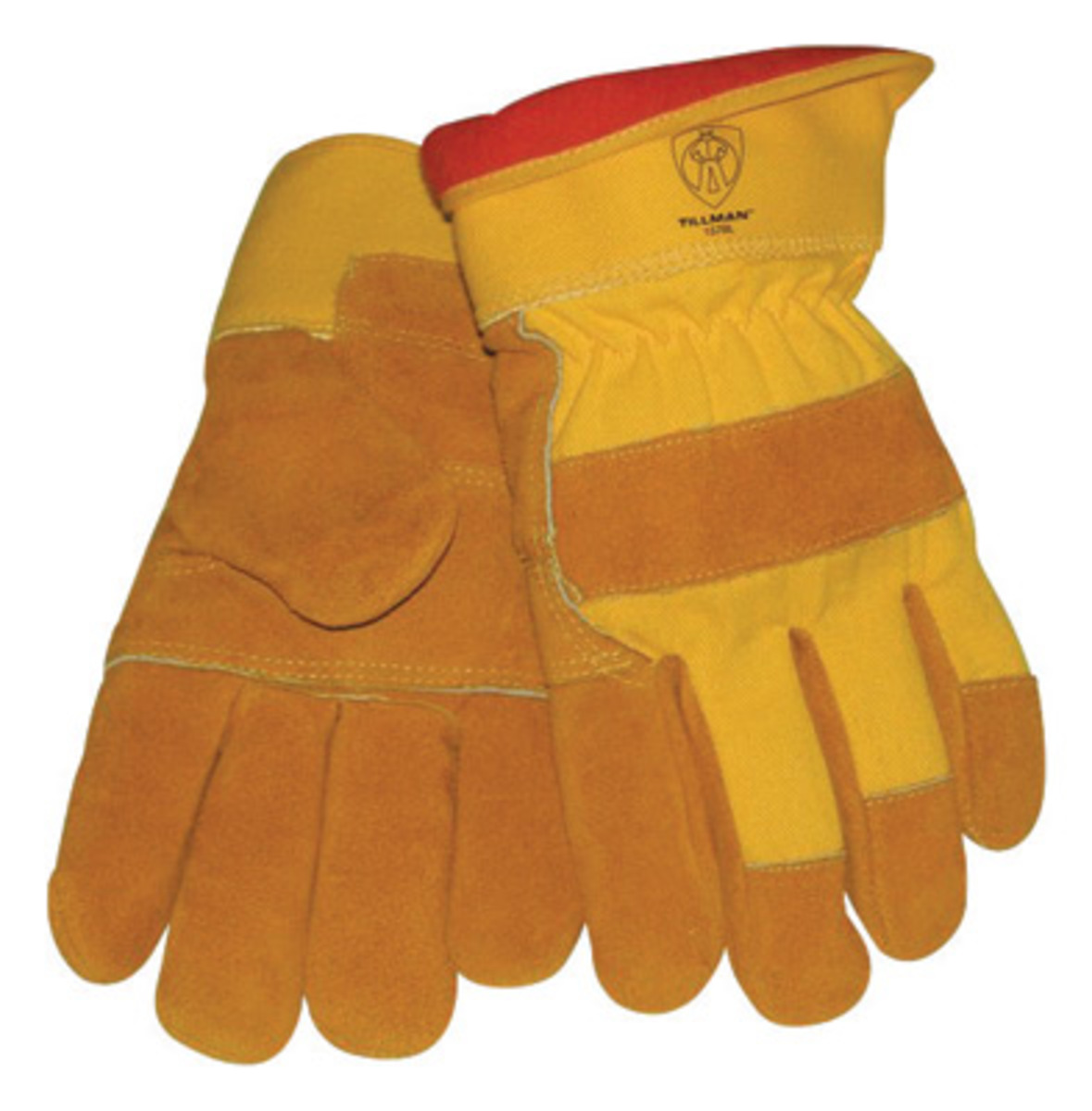 Tillman leather work gloves - Tillman Large Brown Split Cowhide Cotton And Foam Lined Cold Weather Work Gloves With Wing