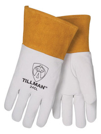 Tillman™ X-Large Pearl Top Grain Kidskin Unlined Premium Grade TIG Welders Gloves With Straight Thumb, 4