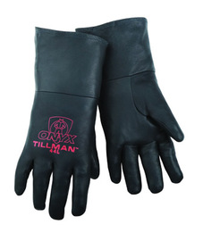 Tillman™ X-Large Black Top Grain Pigskin Cotton/Foam Lined Super Premium Grade MIG Welders Gloves With Reinforced Thumb And Kevlar® Sewn Stitching (Carded)