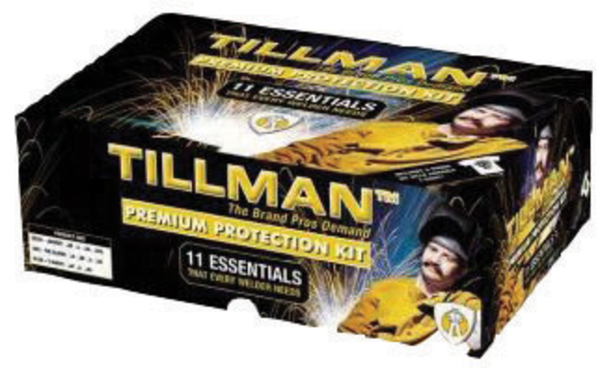 Tillman leather work gloves - Tillman Premium X Large Flame Resistant Personal Protection Equipment Kit With Welding And Work
