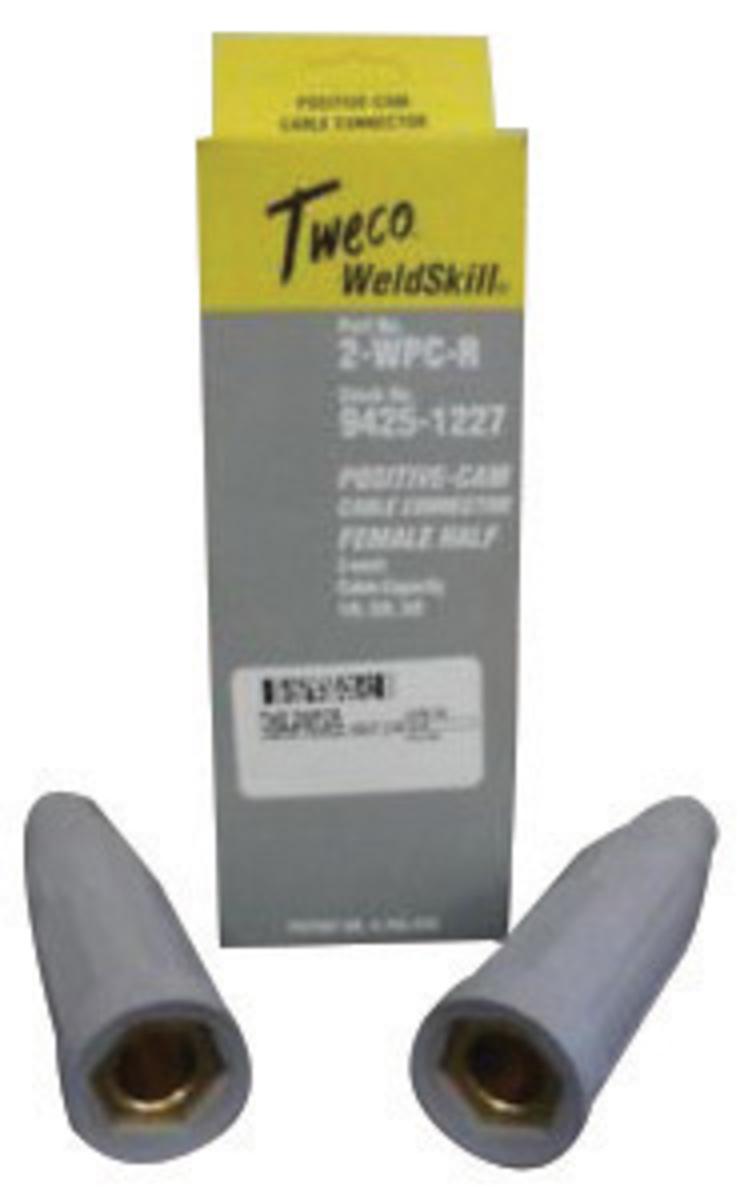 2 MALE HALVES 1//0-3//0 TWECO 2-WPC-P CABLE CONNECTORS